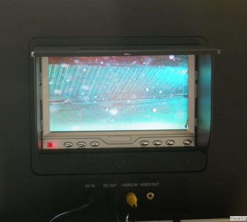 Live beeld aan de oppervlakte Orka zwembadreparatie