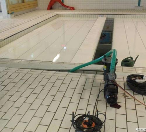 Reinigen beweegbare bodem Orka zwembadreparatie